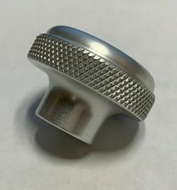 """1 1/2"""" Aluminum Domed Knurled Knob, 5/16-18 Blind Tapped Hol"""