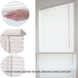1'' CORDLESS MINI BLIND WINDOW VINYL WASHABLE MULTIPLE SIZE