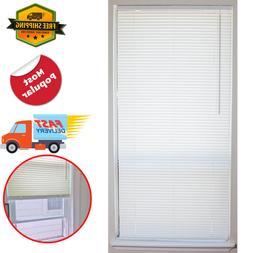 1 in vinyl mini blind cordless window