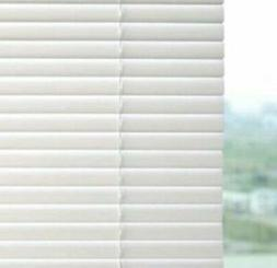 Project Source 1-in White Vinyl Light Filtering Mini Blinds
