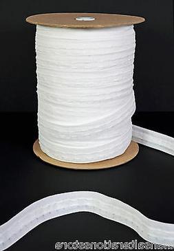 1 Inch 25mm White Rufflette Curtain Heading Header Tape - 3