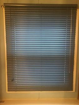 "1 Inch Cornflower Blue Light Filtering Mini Blinds 31.5"" X"