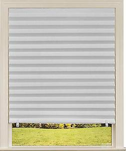 1-Pk Paper Window Blinds White Out Pleated 36 x 72 Inch Sun