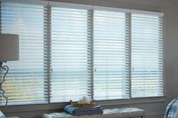"""Levolor 1"""" Real Wood Blinds 11002321 """"Almost White"""" Width: 2"""