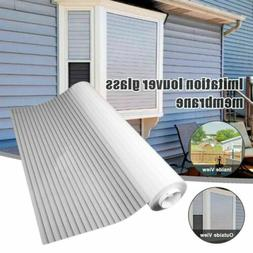 1-Way Vision Horizontal Glass Blinds Static Glue-free for Ho