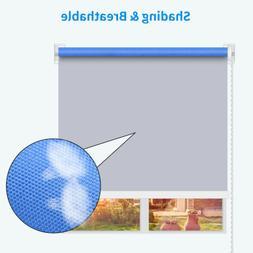 100*160cm Blue Window Blind Roller Full Sunscreen Blackout S