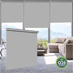 LUCKUP 100% Blackout Waterproof Fabric Window Roller Shades