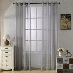 1Pc Blackout Sheer Window Curtain Tulle Blinds for Bedroom L