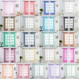 1x1.5m Blackout Window Curtains Tulle Blinds Sheer for Livin