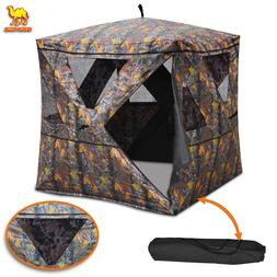 2-3 Person Camouflage Blind Ground Deer Archery Outdoor Wate