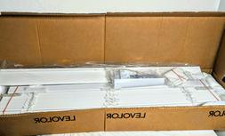 """LEVOLOR 2"""" Faux Wood Blinds Classic White Light Filtering Sh"""