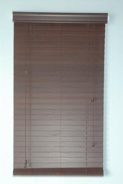 """2"""" Faux Wood window  Blinds 35W x 64L Mahogany Plantation st"""
