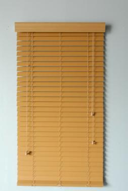 "2"" Faux Wood window  Blinds 35W x 64L Woodtone Plantation st"