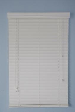 "2"" Faux Wood window  Blinds 20W x 16L White RV"