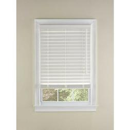 LEVOLOR 2-in White Faux Wood Blinds 48-in Act 47.5-in x 72-i