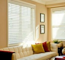 """2 INCH FAUX WOOD PREMIUM BLINDS 15"""" WIDE  by 85"""" to 96 """" in"""