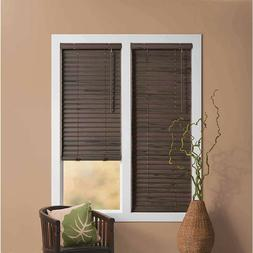 2 inch Mini Cordless Window Blinds Woodtone Wood Grain White