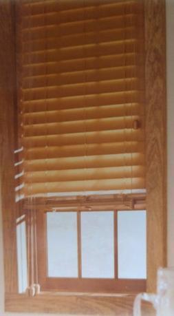 """Levolor 2"""" Real Wood Window Blinds - Medium Oak - 24"""" x"""