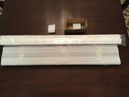 """2"""" Snow White PVC Smooth Foam-Wood Blinds  3"""" Crown Valance"""