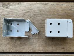 """2"""" Blind White Metal Installation Brackets LOW PROFILE For"""