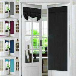2PCS Privacy Protection Home French Blackout Drapes Door Cur