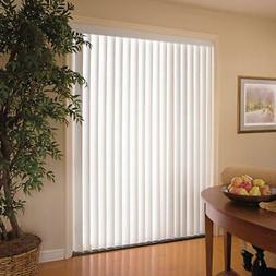 Vertical Blinds White 3.5 in. PVC Window 78 in. x 84 in. Hom