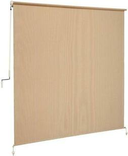 6 Ft. Sun Shade Roller Blind Cordless Roll Up Patio Porch Ou