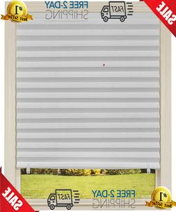 6-Pk Paper Window Blinds Black Out Pleated 30x 64 Inch Sun S