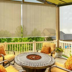 6' x 6' Window Sun Shade Blind Roller Roll Up Exterior Patio