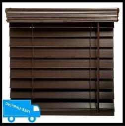 72x64 inch espresso faux wood blind room