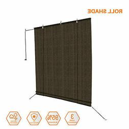 8 Ft. Sun Shade Roller Blind Cordless Roll Up Patio Porch Ou