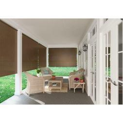8-Ft Window Sun Shade Blind Roller Roll-Up Exterior Cordless