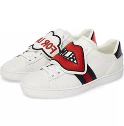 Gucci Ace Low-top Calf Leather Sneakers Blind For Love Strip