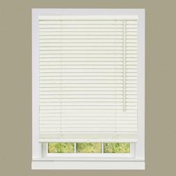 """Alabaster Vinyl 1 Inch Window Mini Blind Size 69"""" Wide x 64"""""""
