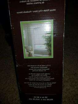 Allen + Roth 2.5-in White Faux Wood Blinds 35-in  0329755