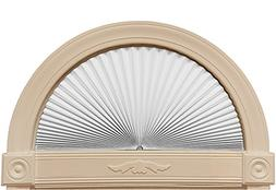 "Original Arch Light Blocking Fabric Shade, White, 72"" x 36"