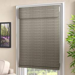 Bamboo Gray-Brown Roman Shades Roman Privacy Blinds 34'' W x