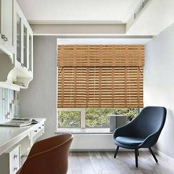 TJ Global Bamboo Roll Up Window Blind Sun Shade, Light Filte