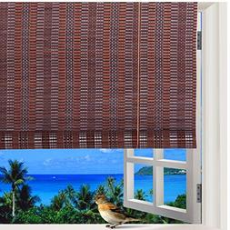 Natural Bamboo Roll Up Window Blind Roman Sun Shade WB-48N1