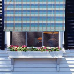 Natural Bamboo Roll Up Window Blind Roman Sun Shade WB-BCT00