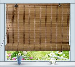 "Bamboo Roll Up Window Blind Sun Shade W36"" x H72"""