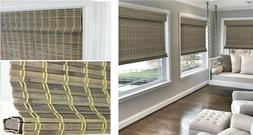 BAMBOO WINDOW BLINDS Sun Shade Light Filtering Cordles Insid