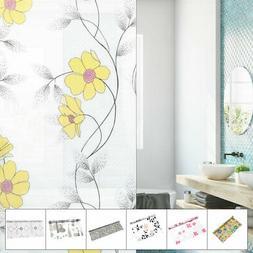 Bathroom Home PVC 78.7 x 17.7 Inch Privacy Anti UV Glass Win