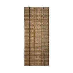 ALEKO BBL32X72BR Light Brown Bamboo Midollino Wooden Roll Up