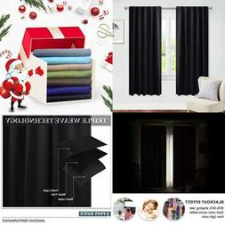 blackout curtains 63 long window covering panels