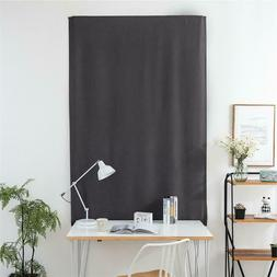 Blackout Window Curtains Gray Self-Adhesive Blinds for Bathr