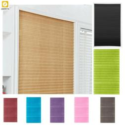 Blinds Curtains Self-Adhesive Pleated Half Blackout Windows