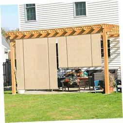 Coarbor Outdoor Roll up Shades Blinds for Porch 6'W x 6'H St
