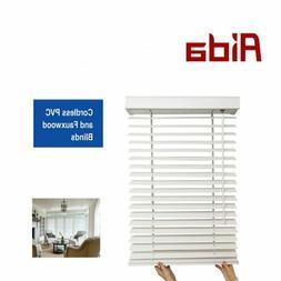 """AIDA Cordless 2"""" Faux Wood Kitchen Bedroom Room Windows Blin"""