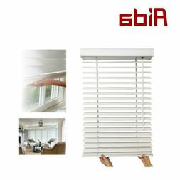 """Cordless 2""""  Fauxwood Windows Bedroom Kitchen Room Blinds Bl"""